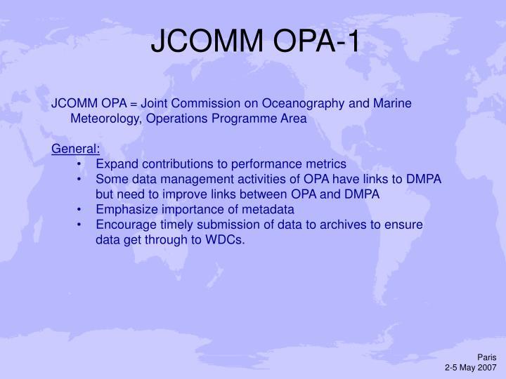 JCOMM OPA-1