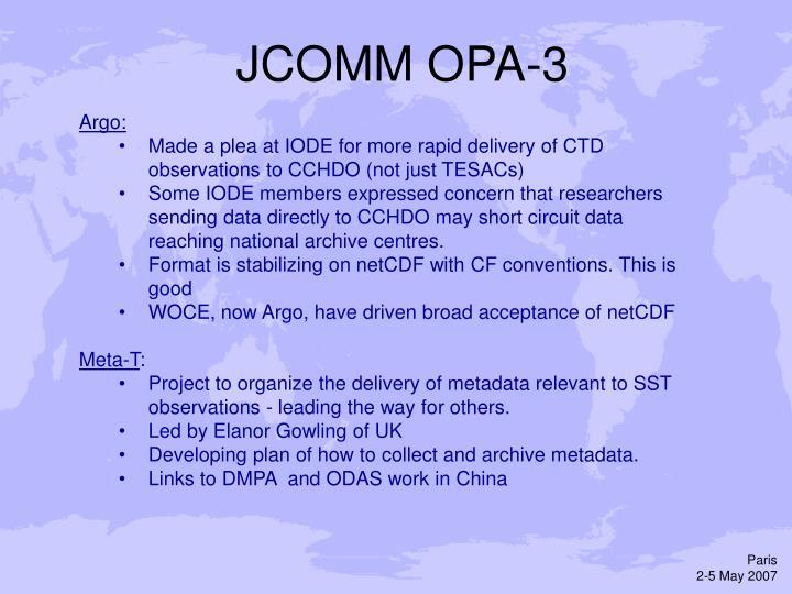 JCOMM OPA-3