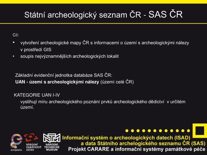 Státní archeologický seznam ČR -