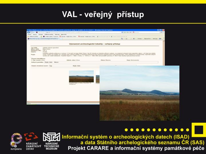 VAL - veřejný  přístup