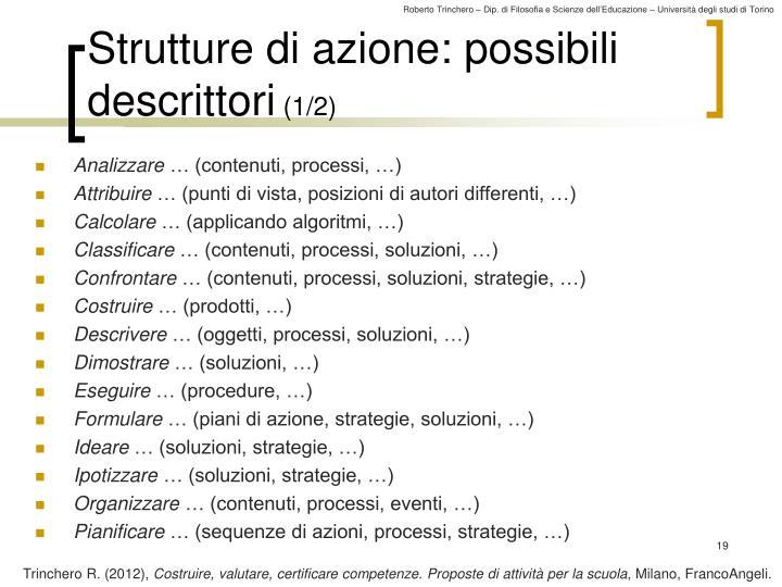 Strutture di azione: possibili descrittori