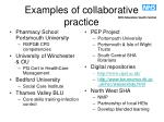 examples of collaborative practice
