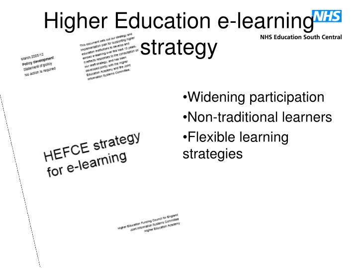 Higher Education e-learning strategy