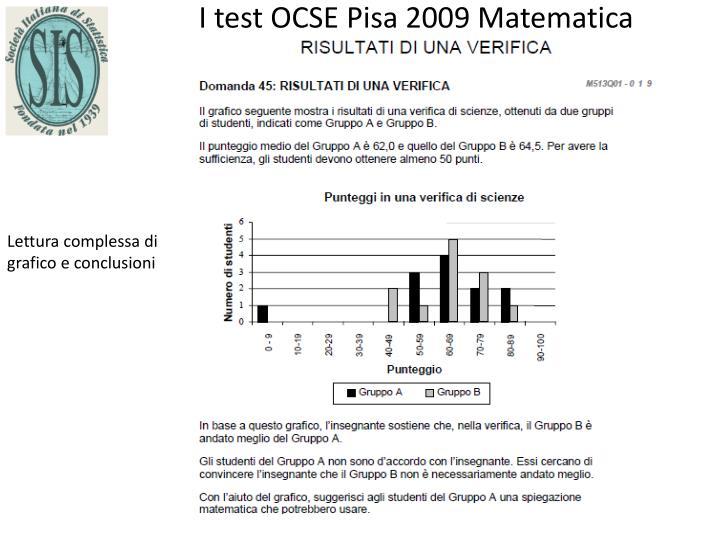 I test OCSE Pisa 2009 Matematica