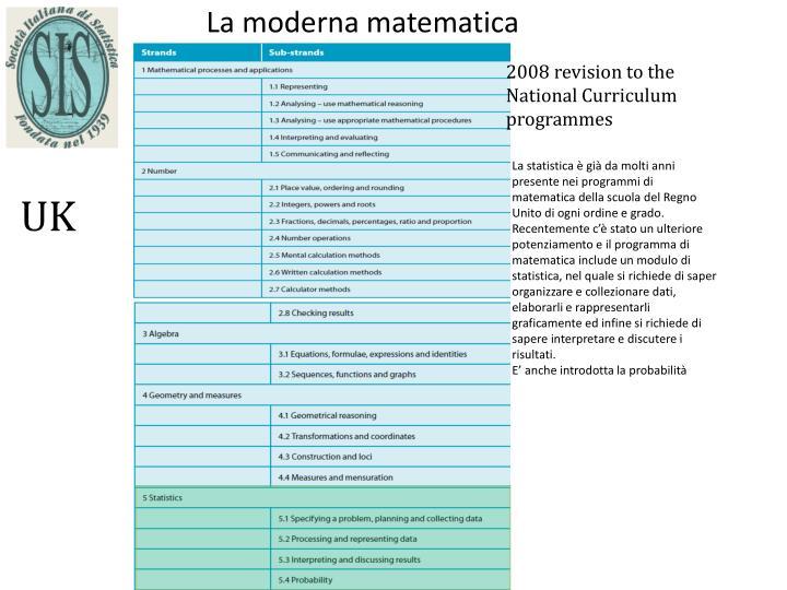 La moderna matematica
