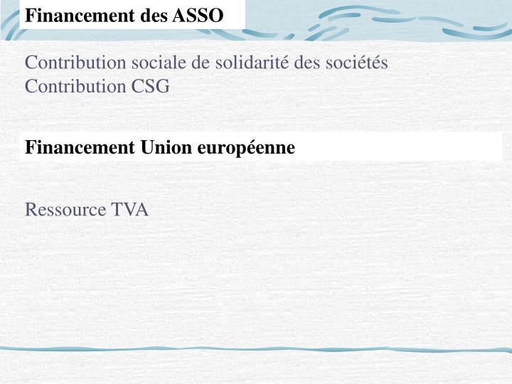 Financement des ASSO