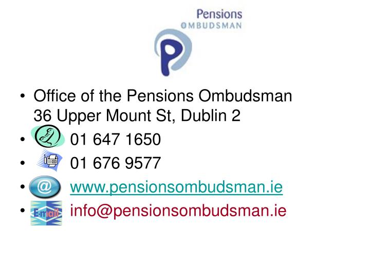 Office of the Pensions Ombudsman