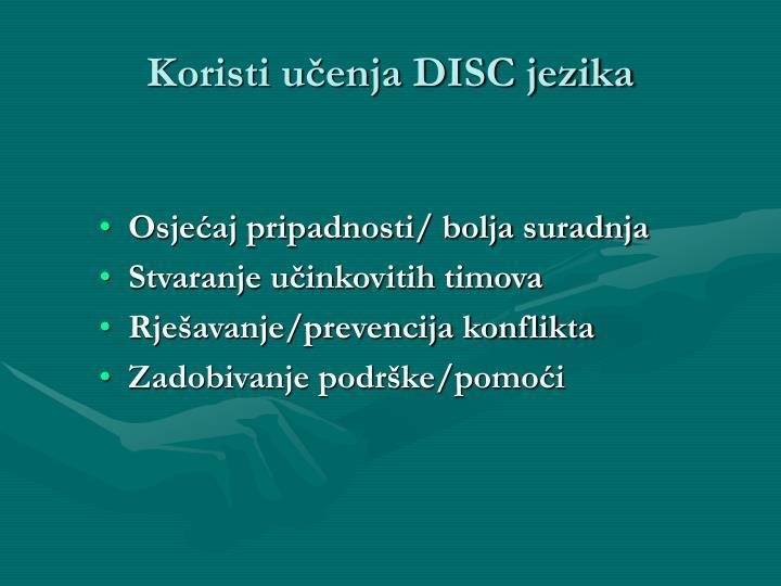 Koristi učenja DISC jezika
