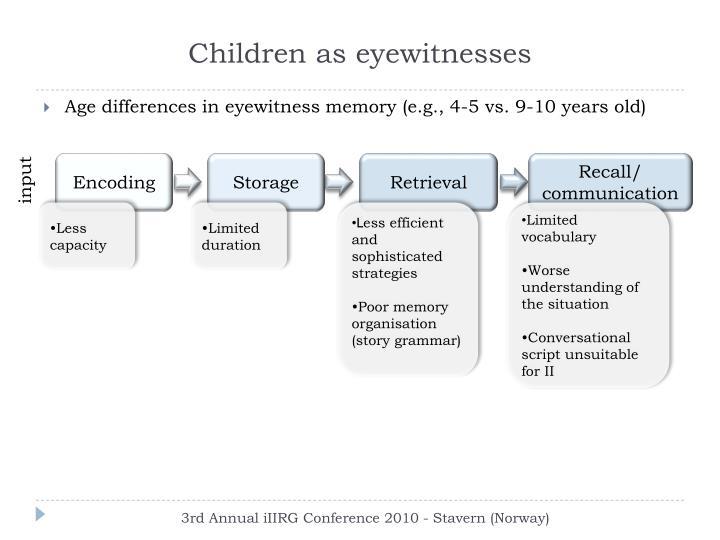 Children as eyewitnesses