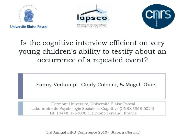 Is the cognitive interview efficient on very