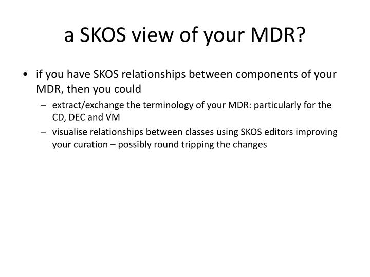 a SKOS view of your MDR?