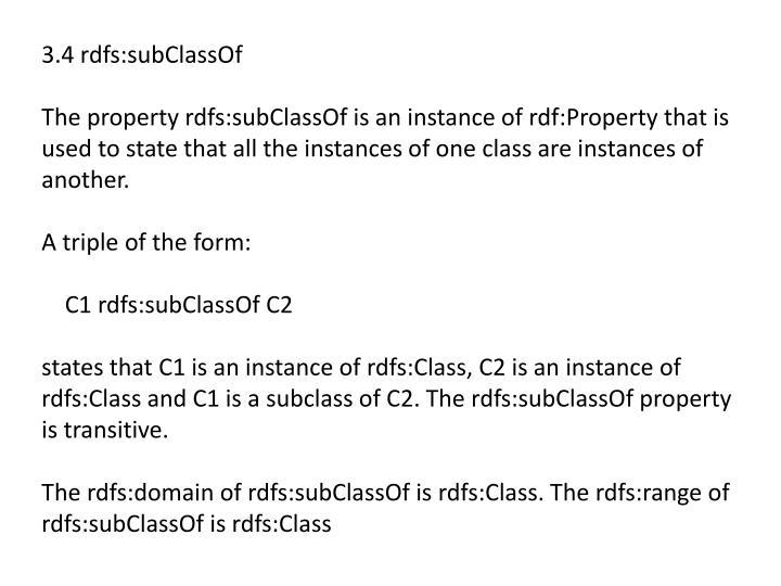 3.4 rdfs:subClassOf