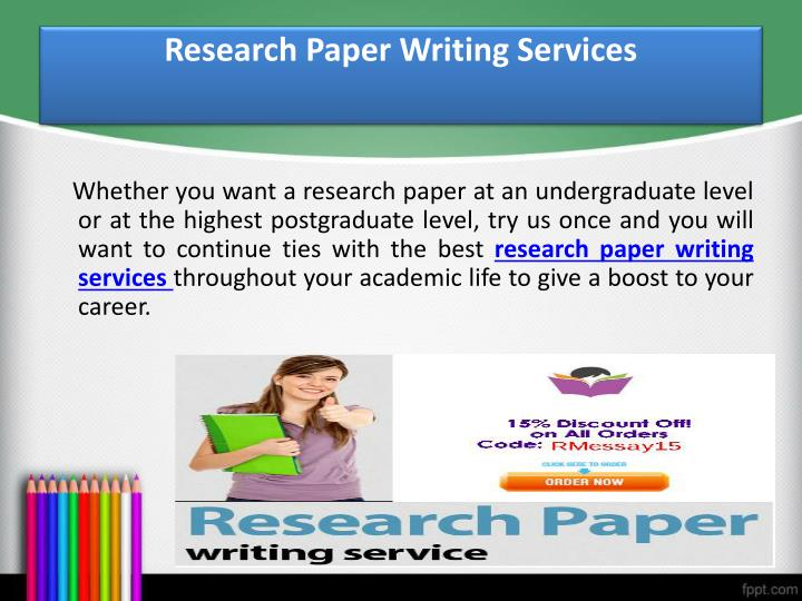 Research paper ghostwriter