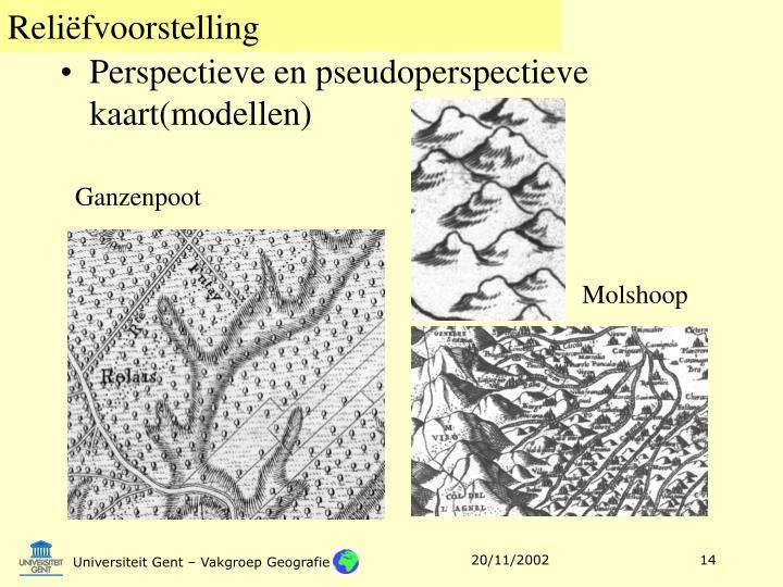 Perspectieve en pseudoperspectieve kaart(modellen)