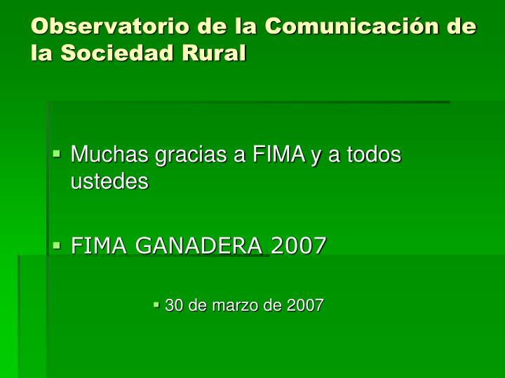 Observatorio de la Comunicación de la Sociedad Rural