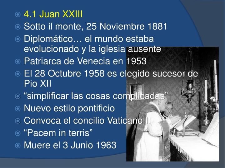 4.1 Juan XXIII