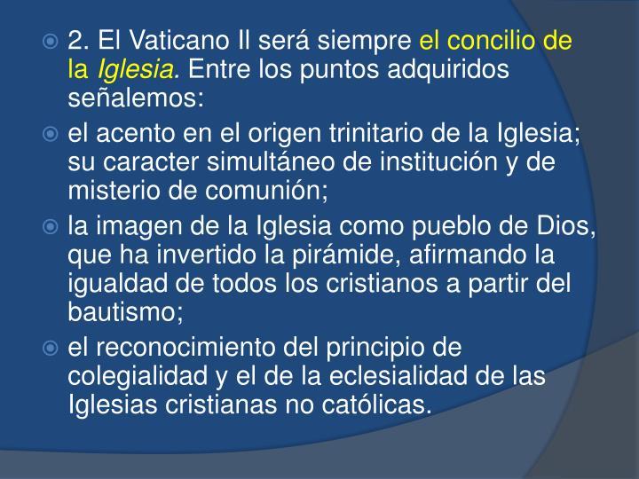 2. El Vaticano