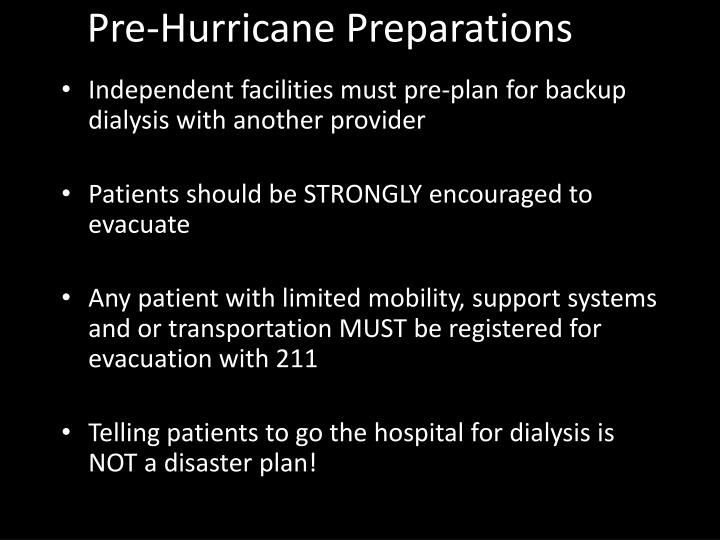 Pre-Hurricane Preparations