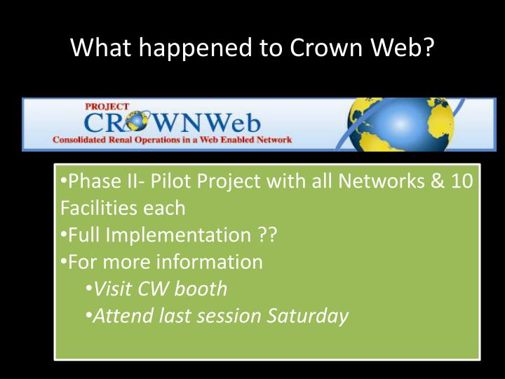 What happened to Crown Web?