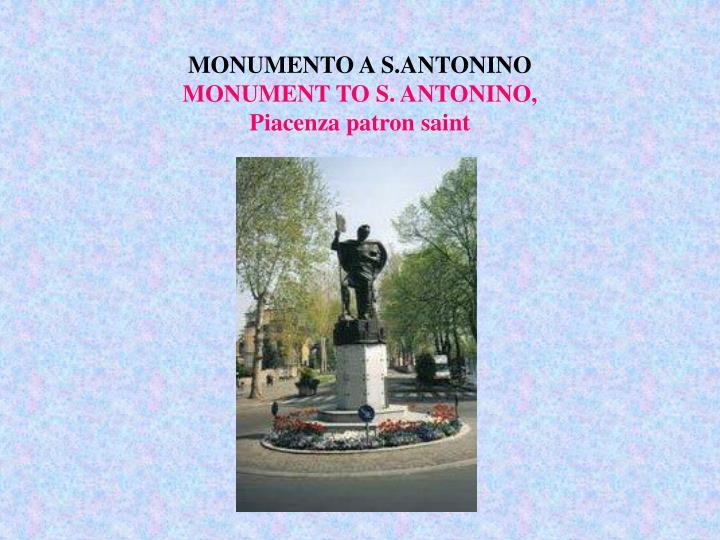 MONUMENTO A S.ANTONINO