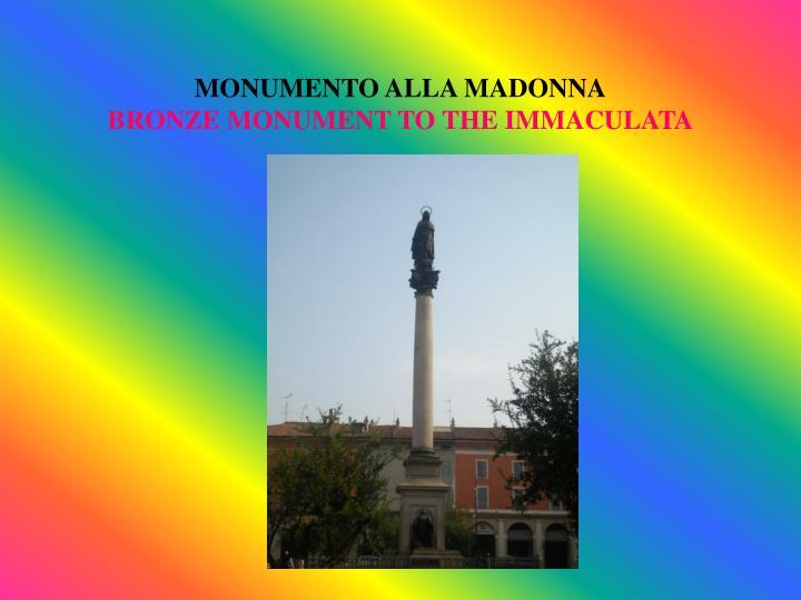 MONUMENTO ALLA MADONNA