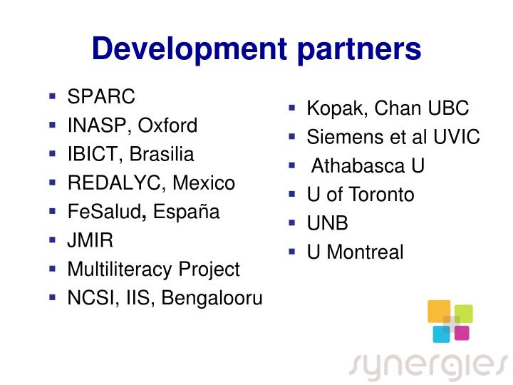 Development partners