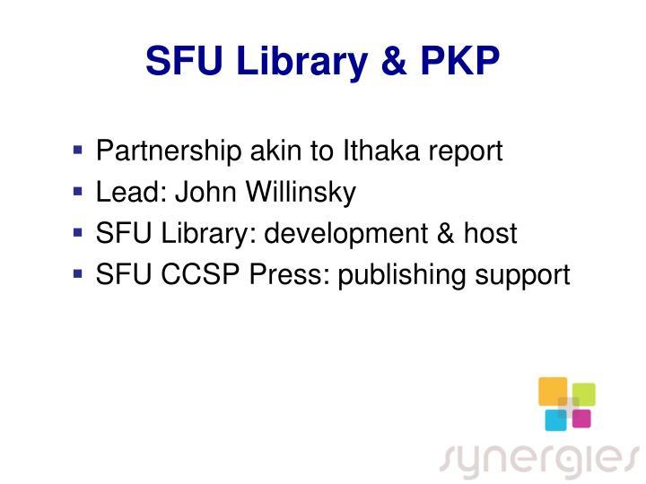SFU Library & PKP