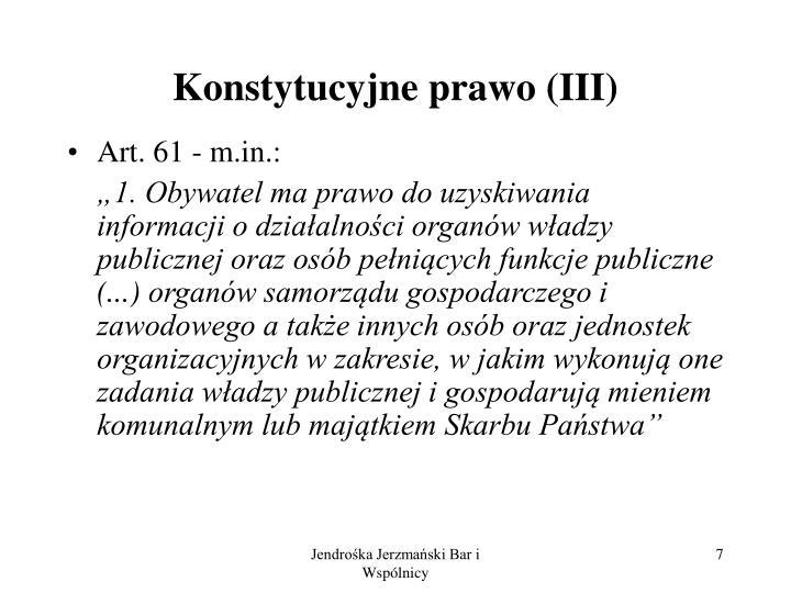 Konstytucyjne prawo