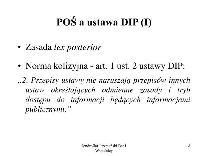 POŚ a ustawa DIP (I)