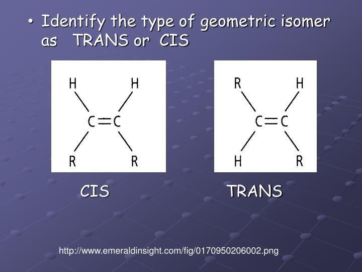 Identify the type of geometric isomer