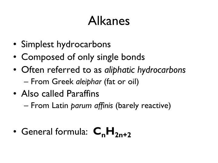 Alkanes