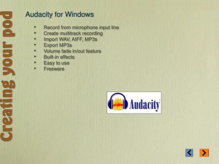 Audacity for Windows