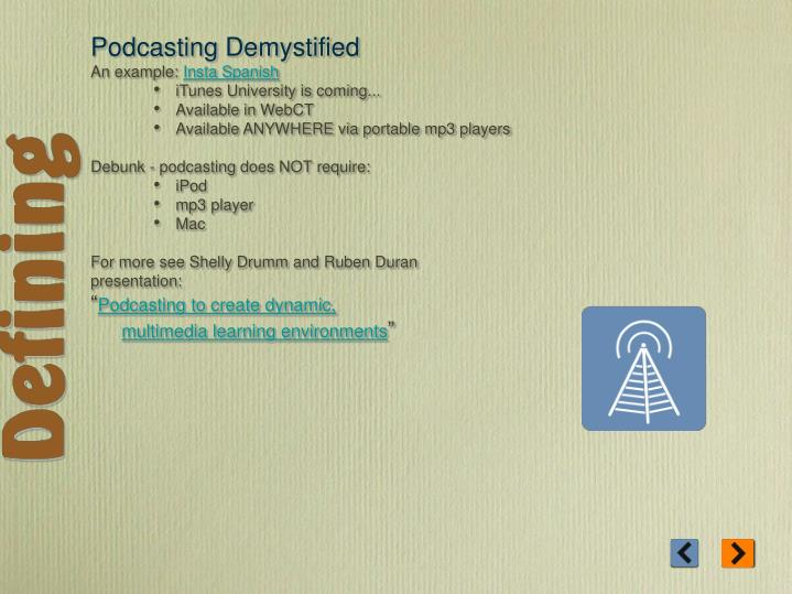 Podcasting Demystified