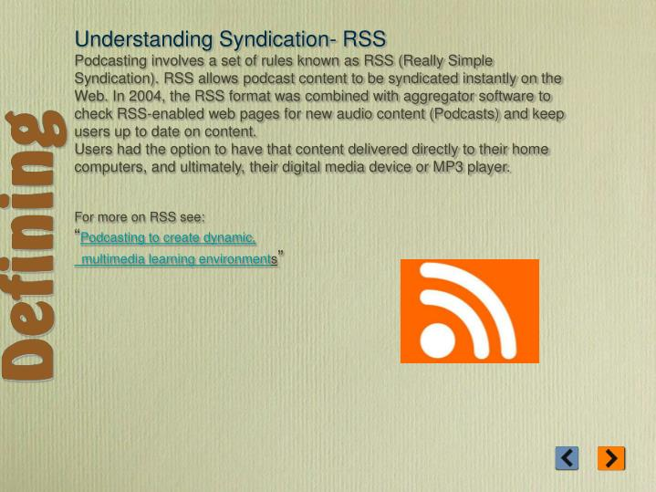 Understanding Syndication- RSS