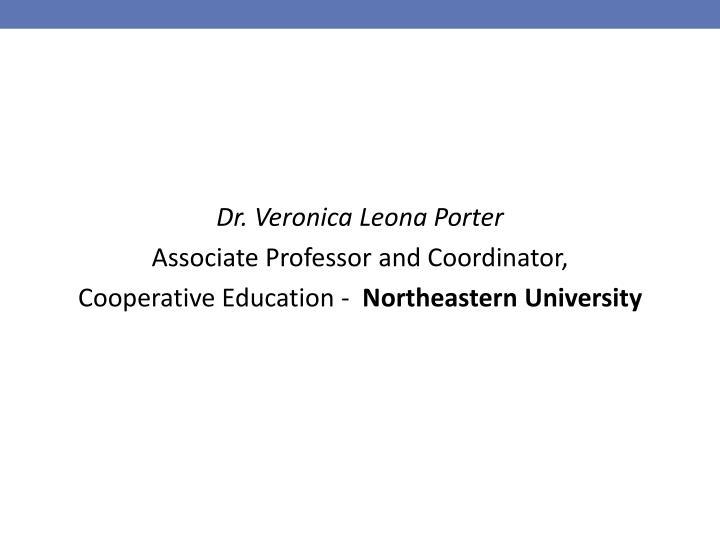 Dr. Veronica Leona Porter