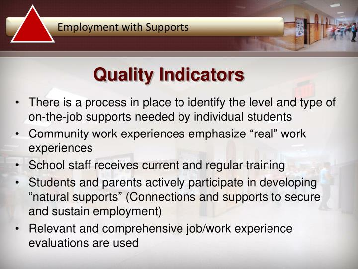 Employment with Supports