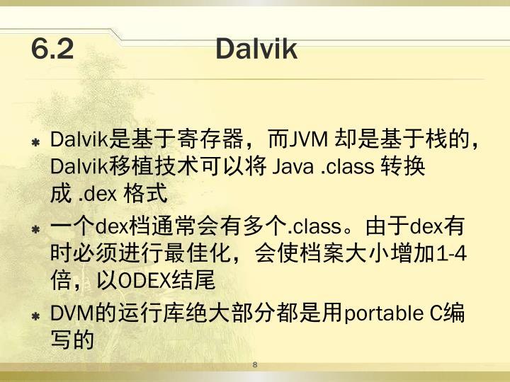 6.2                  Dalvik