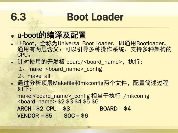 6.3               Boot Loader