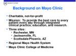 background on mayo clinic