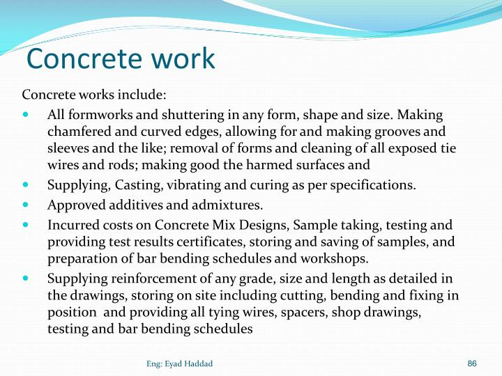 Concrete work