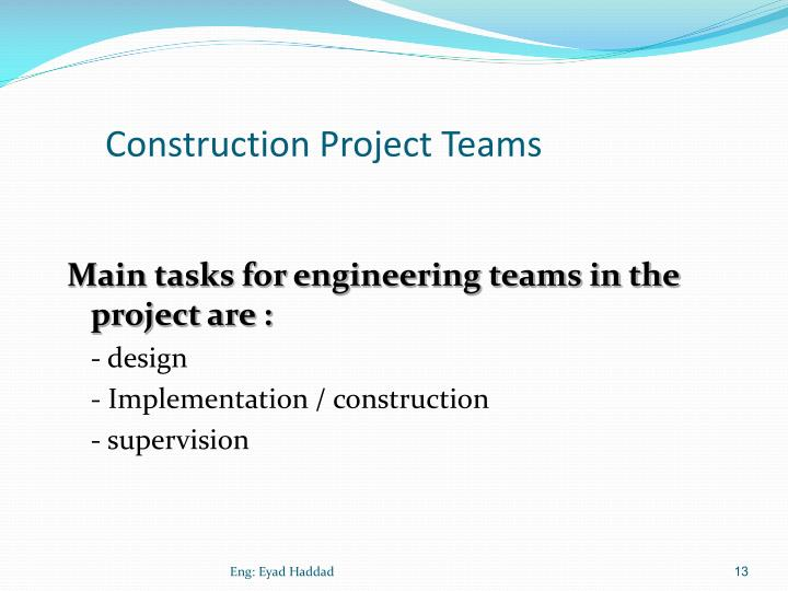 Construction Project Teams
