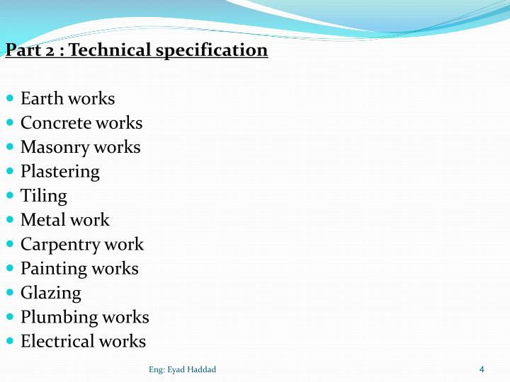 Part 2 : Technical specification