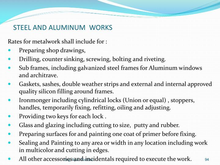 STEEL AND ALUMINUM  WORKS