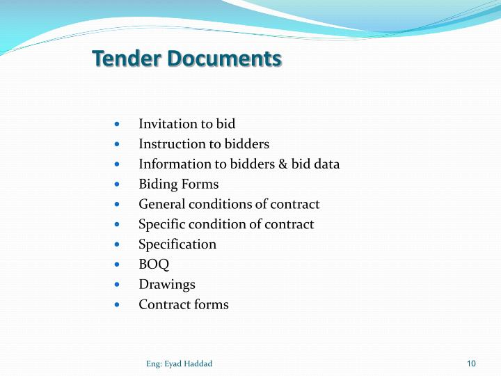 Tender Documents