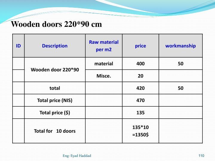 Wooden doors 220*90 cm