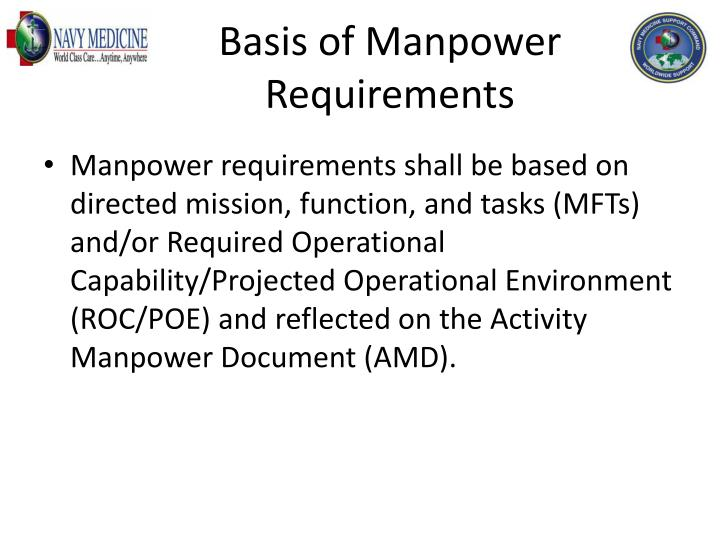 Basis of Manpower Requirements