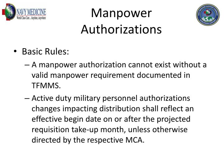 Manpower Authorizations