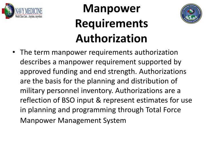 Manpower Requirements Authorization