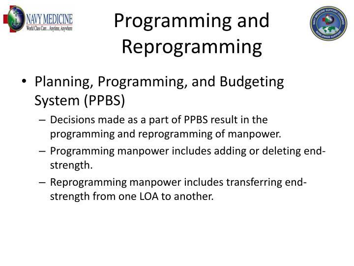 Programming and Reprogramming