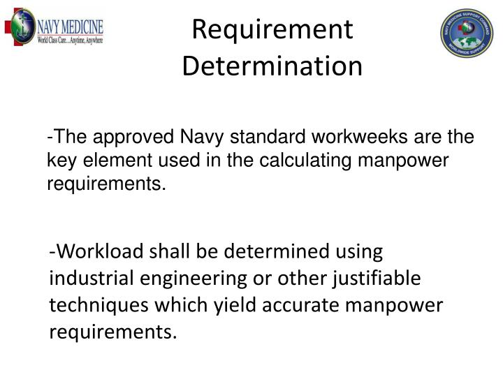 Requirement Determination